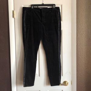 Loft Velvet black tuxedo pants,never worn,Size 14